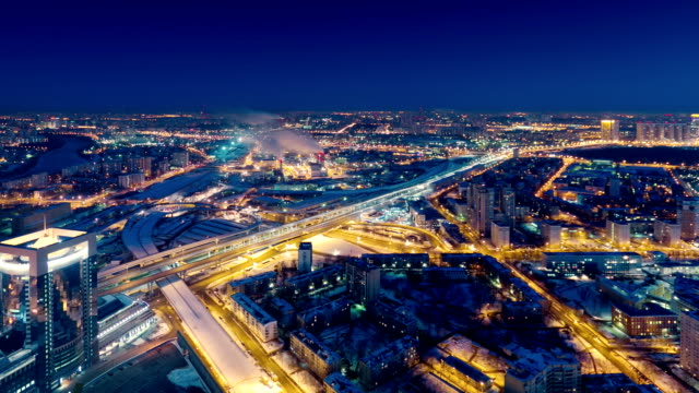 TL  Morning in a big city, night to day timelapse / Russia, Moscow