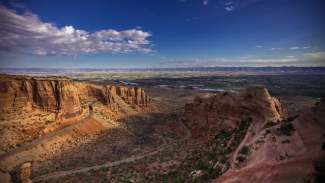 morning in colorado national monument - time lapse - red rocks stock videos & royalty-free footage