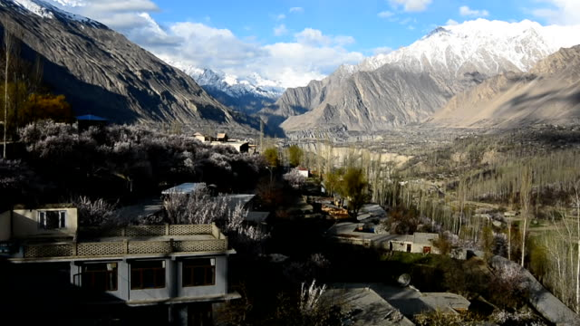 morning in hunza valley pakistan - valley stock videos & royalty-free footage
