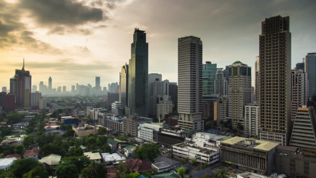 morning in manila - time lapse - filippine video stock e b–roll