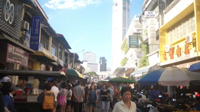 morning market - penang stock videos and b-roll footage