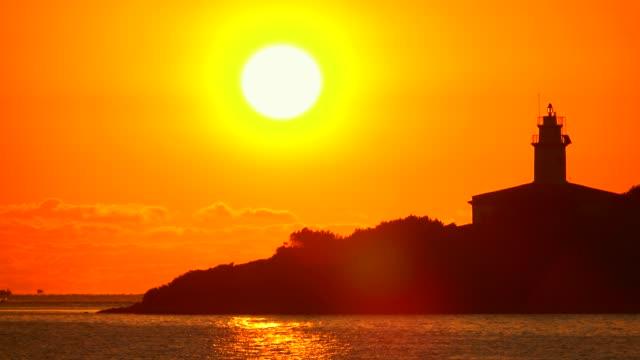 Morning mood at the lighthouse of Alcanada, Badia d'Alcudia, Majorca, Balearic Islands, Spain, Mediterranean, Europe