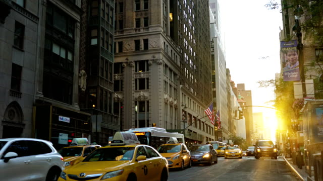 morning new york street - urban road stock videos & royalty-free footage
