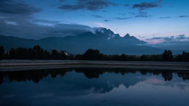 morning of the downtown reservoir in lijiang - yunnan province stock videos and b-roll footage