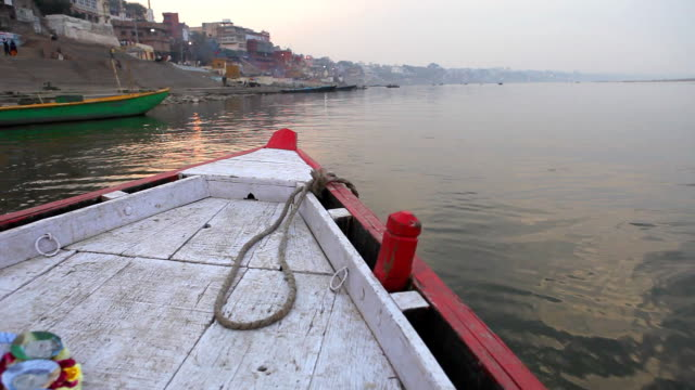 morning on ganges - temple building stock videos & royalty-free footage