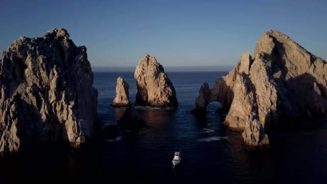 morning over los arcos - natural arch stock videos & royalty-free footage