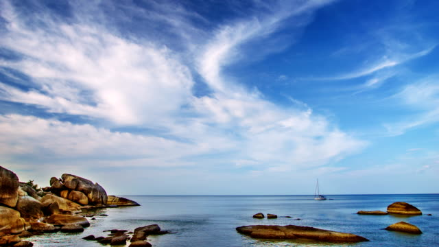 Mattina pacifico paesaggio marino