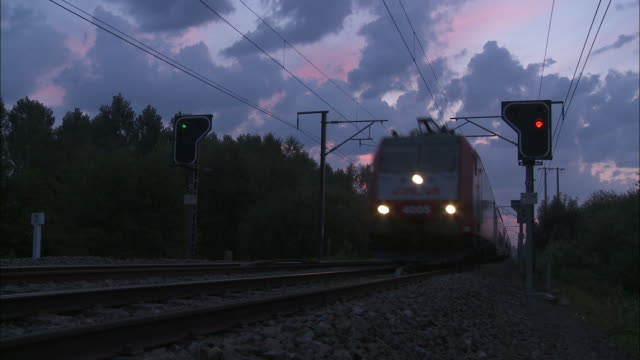 Morning - Passenger train