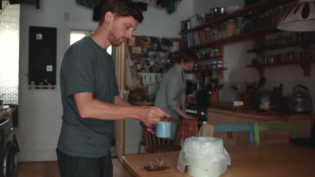 morning rituals - making coffee together - couple relationship stock videos & royalty-free footage