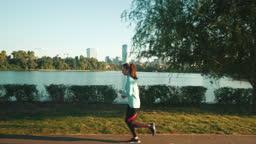 Morning running session.