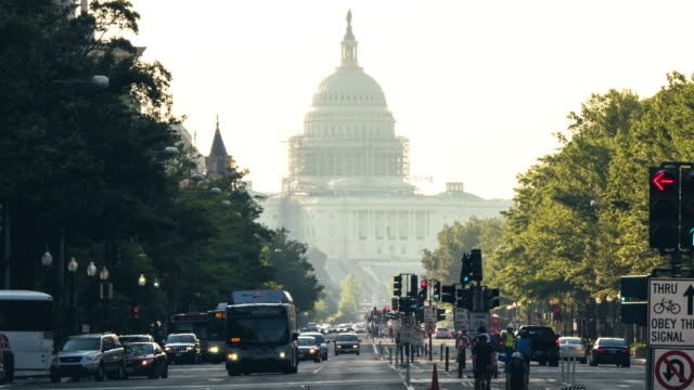 Morning rush hour on Pennsylvania Ave.