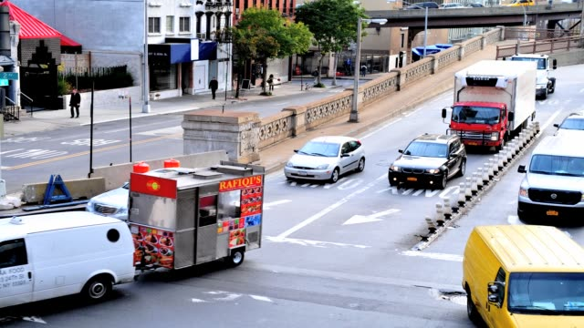 morning rush hour traffic on the ed koch queensboro 59th street bridge, midtown - manhattan, new york city, usa time lapse: queensboro 59th street... - 2013 stock videos & royalty-free footage