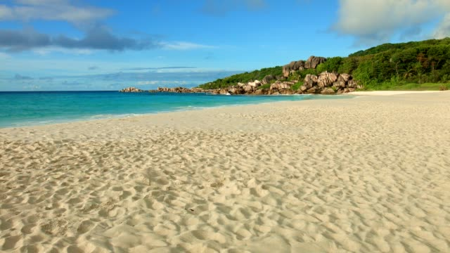 Morning scene at Grand Anse, La Digue Island