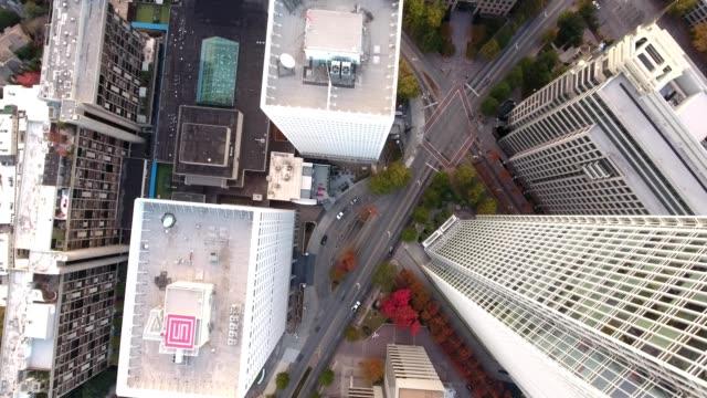 morning shadowless atlanta nadir tall buildings colony square - atlanta georgia stock videos & royalty-free footage