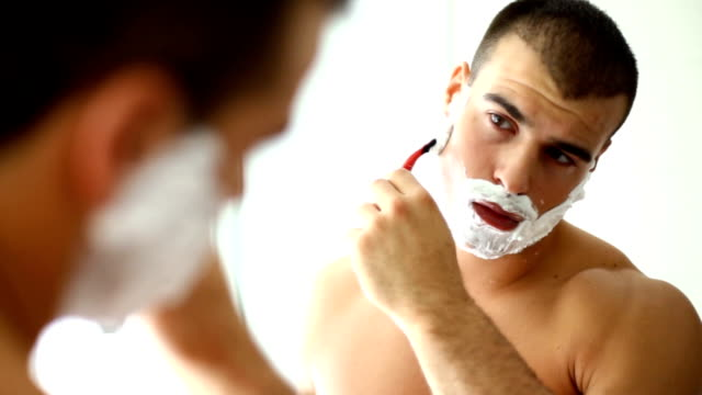 morning shave. - beard stock videos & royalty-free footage
