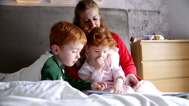 morning stories with mum - redhead stock videos & royalty-free footage