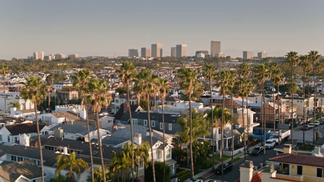 morning sunlight on houses in newport beach, ca - mar stock videos & royalty-free footage