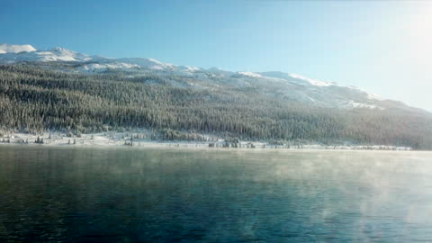 morning sunlight with the winter lake - north stock videos & royalty-free footage