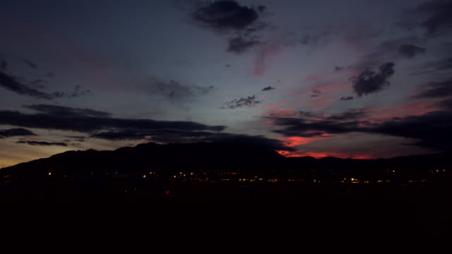 morning sunrise and balloon festiva - albuquerque new mexico stock videos & royalty-free footage