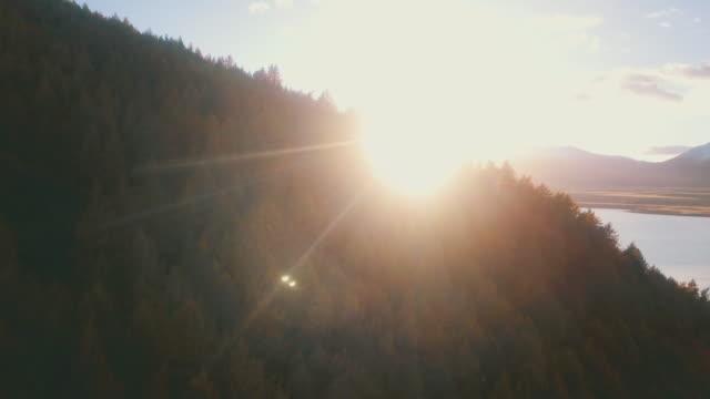 vidéos et rushes de lever de soleil de matin au lac tekapo - nouvelle zélande
