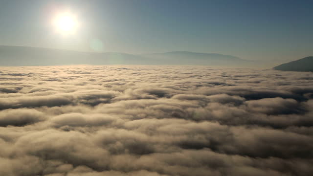 Morning Sunrise Nebel Wolken Okanagan Valley