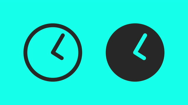 morning time - vector animate - clock stock videos and b-roll footage