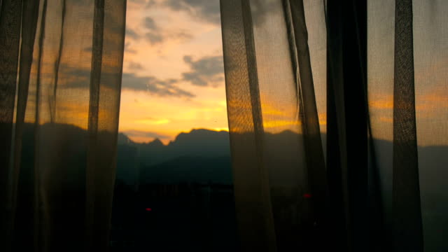 morning window - modern bedroom stock videos & royalty-free footage