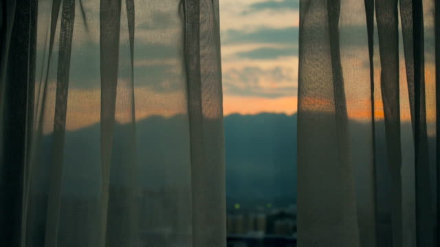 morning window - curtain stock videos & royalty-free footage