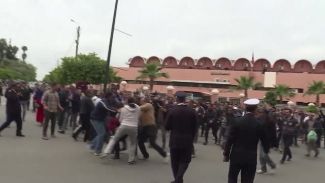 moroccan authorities arrested on monday two activists from the feminist activist group femen who had come to protest in front of the beni mellal... - arrest stock videos & royalty-free footage