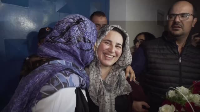 moroccan journalist hajar raissouni who was sentenced to one year in jail for an illegal abortion and sexual relations outside marriage walked free... - journalist stock videos and b-roll footage