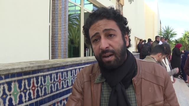 moroccan journalist omar radi who faces a year in prison for contempt of court after the publication of a critical tweet calls on the freedom of... - publication stock videos & royalty-free footage