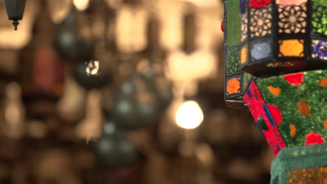 Moroccan lamps rack focus 2