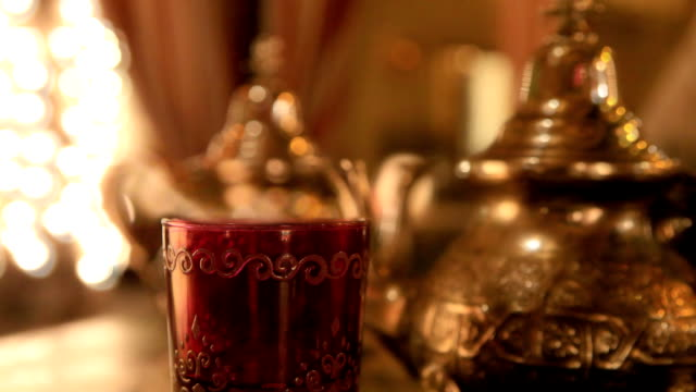 moroccan or arabic  tea - turkey middle east stock videos & royalty-free footage