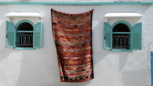 moroccan rugs - souk stock videos & royalty-free footage