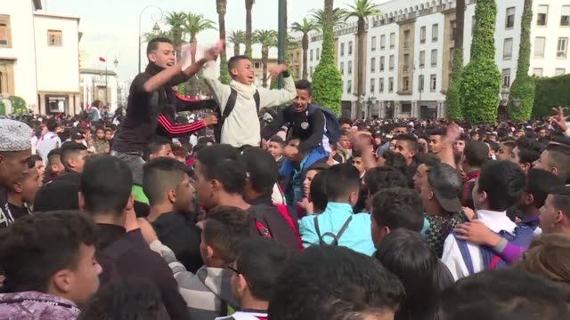 moroccan students protest against a government decision to keep its clocks at summer time year round in front of the parliament in the capital rabat - rabat morocco stock videos & royalty-free footage