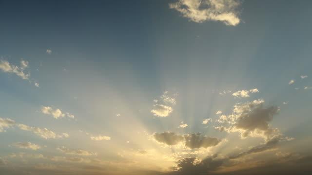moroccan sun rays thru cloud over mountain - wiese video stock e b–roll