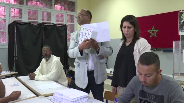 moroccans voted friday to elect a new parliament five years after an islamist led government took office following arab spring inspired protests that... - afp stock videos & royalty-free footage