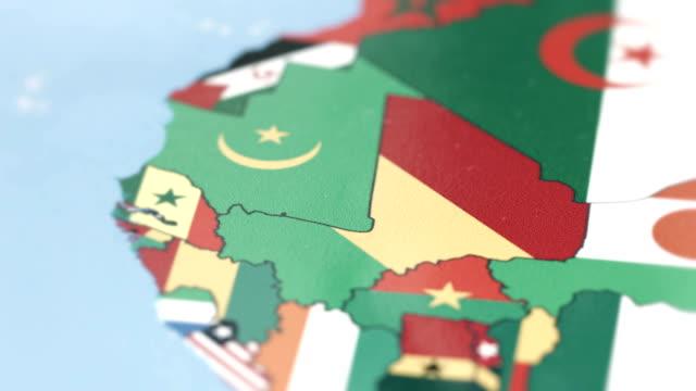 Morocco Borders with National Flag on World Map