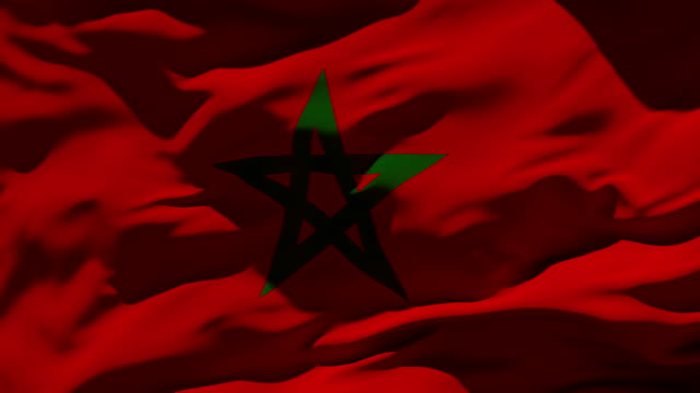 morocco flag - moroccan culture stock videos & royalty-free footage