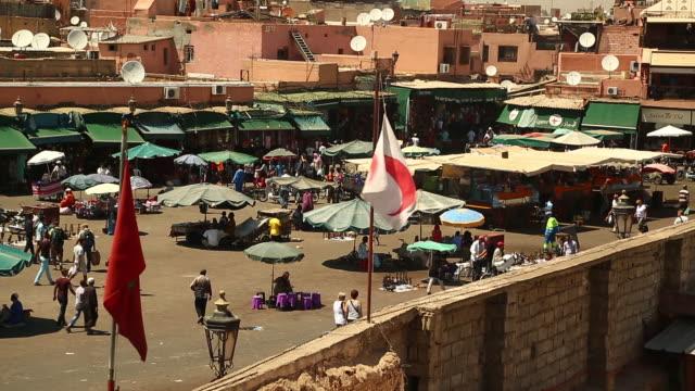 morocco - marrakesh courtyard - wiese stock videos & royalty-free footage
