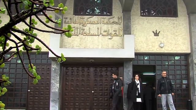 vidéos et rushes de morocco military trial ends on march 20 2014 in rabat morocco - système judiciaire