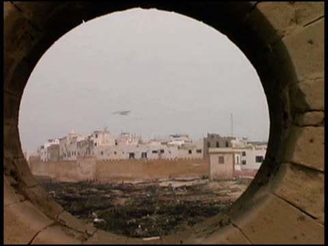 Morocco Seaside Village Through Castle Porthole (Essaouira)