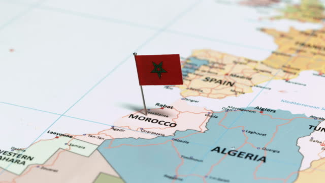 morocco with national flag - rabat morocco stock videos & royalty-free footage
