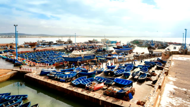 Morocco,Boats in harbor