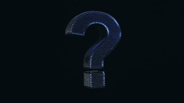 morphing large question mark - asking stock videos & royalty-free footage