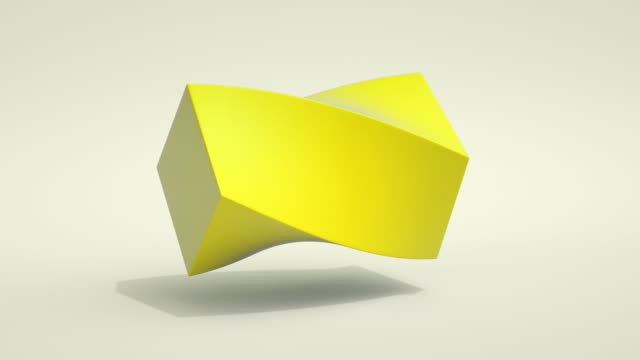 vídeos de stock e filmes b-roll de morphing shapes loop (yellow) - pastel