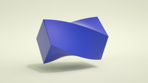 morphing shapes loop (blue) - cube shape stock videos & royalty-free footage