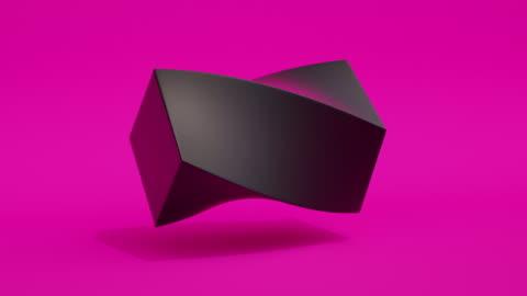 morphing shapes loop (purple neon) - morphing stock videos & royalty-free footage