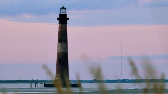 morris island lighthouse - south carolina stock videos & royalty-free footage