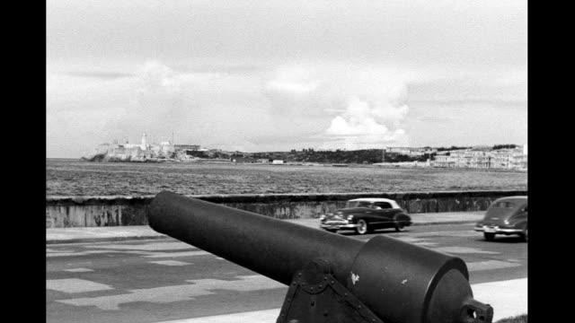 morro castle and havana harbor morro castle and havana harbor on january 01 1940 in havana cuba - 1940 stock-videos und b-roll-filmmaterial